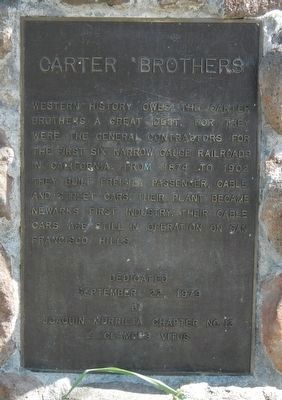 Carter Brothers Marker image. Click for full size.