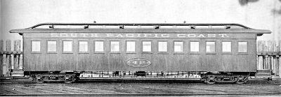 A typical Carter Brothers narrow gauge coach. image. Click for full size.