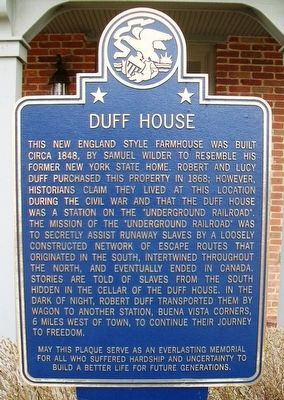 Duff House Marker image. Click for full size.