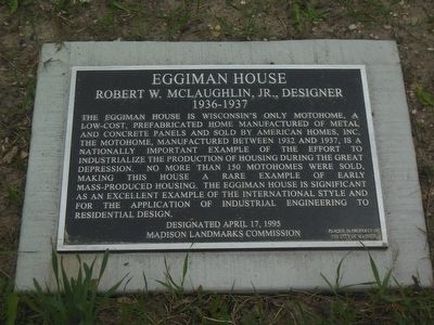 Eggiman House Marker image. Click for full size.