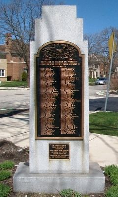 Sauganash Veterans Memorial (Side A) image. Click for full size.