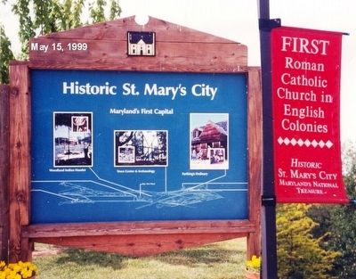 Sign at the entrance to St Mary's City image. Click for full size.