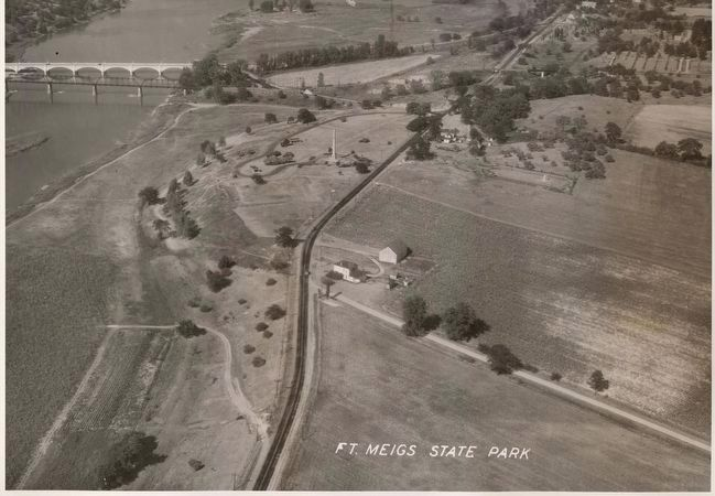 Aerial view of Fort Meigs State Memorial image. Click for more information.