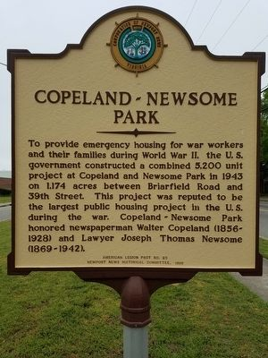 Copeland - Newsome Park Marker image. Click for full size.