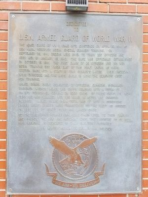 U.S.N. Armed Guard of World War II Memorial Marker image. Click for full size.