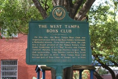 The West Tampa Boys Club Marker image. Click for full size.