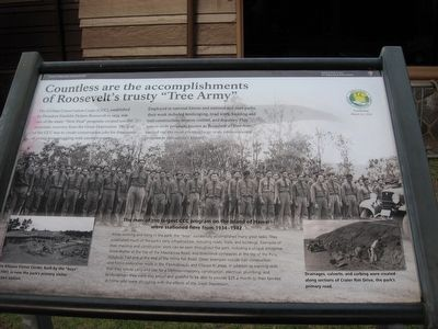 "Countless are the Accomplishments of Roosevelt's Trusty ""Tree Army"" Marker image. Click for full size."