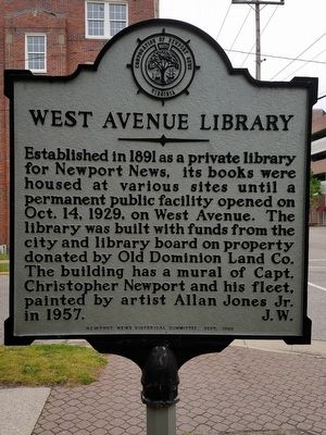 West Avenue Library Marker image. Click for full size.