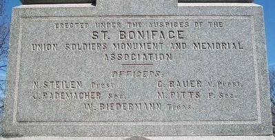 St. Boniface Union Soldiers Monument Sponsors image. Click for full size.