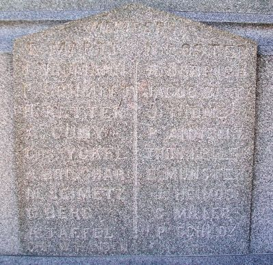 St. Boniface Union Soldiers Monument Honor Roll image. Click for full size.