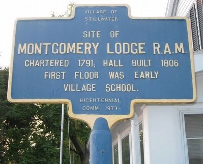 Montgomery Lodge R.A.M. Marker image. Click for full size.