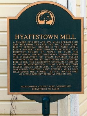 Hyattstown Mill Marker image. Click for full size.