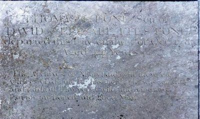 Thomas Stone's Epitaph image. Click for full size.