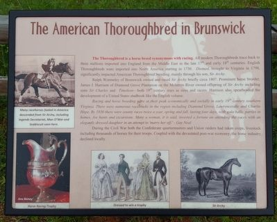 The American Thoroughbred in Brunswick Marker image. Click for full size.