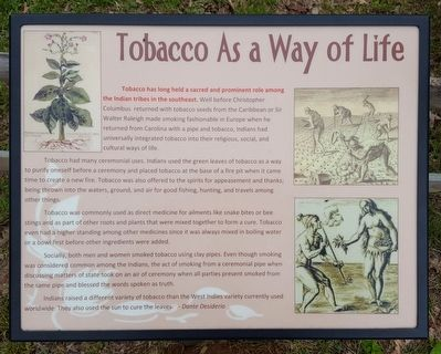 Tobacco As a Way of Life Marker image. Click for full size.