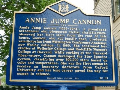 Annie Jump Cannon Marker image. Click for full size.