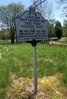 Lewistown Trout Hatchery and Bass Ponds Marker image. Click for full size.
