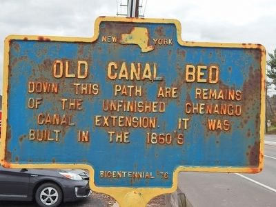 Old Canal Bed Marker image. Click for full size.