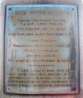 John Peter Altgeld Marker image. Click for full size.