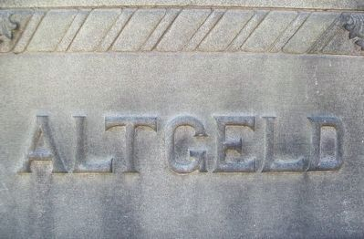 John Peter Altgeld Monument Detail image. Click for full size.