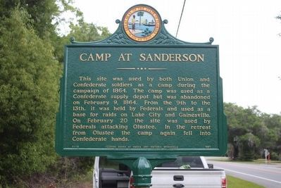 Camp at Sanderson Restored Marker image. Click for full size.