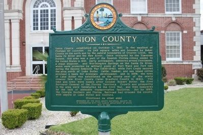 Union County Restored Marker-Side 1 image. Click for full size.