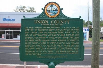 Union County Restored Marker-Side 2 image. Click for full size.