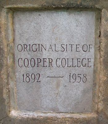Original Site of Cooper College Marker image. Click for full size.