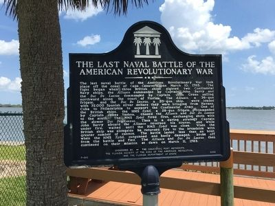 The Last Naval Battle of the American Revolutionary War Marker image. Click for full size.