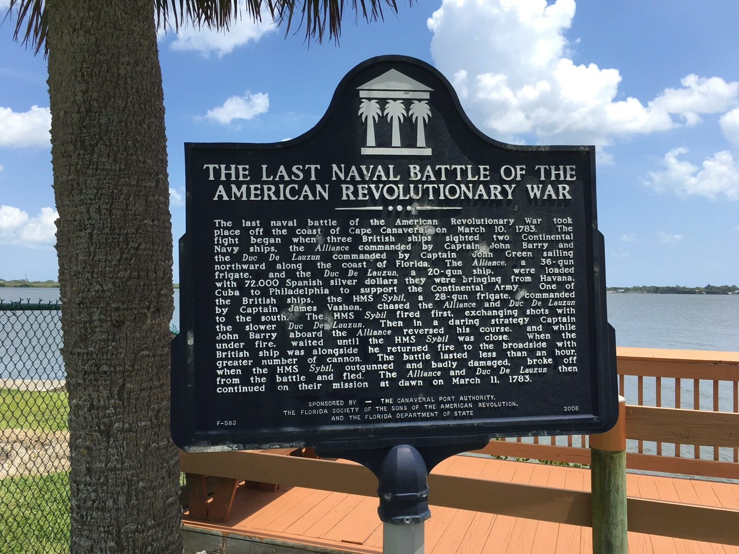 The Last Naval Battle of the American Revolutionary War Marker