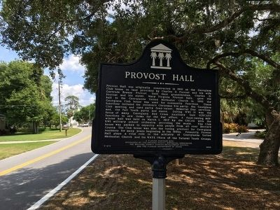 Provost Hall Marker image. Click for full size.