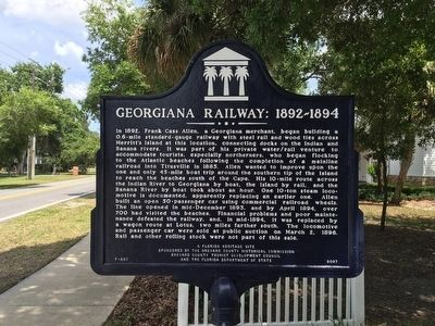 Georgiana Railway: 1892-1894 Marker image. Click for full size.