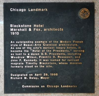 Blackstone Hotel Marker image. Click for full size.
