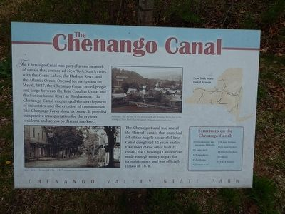 The Chenango Canal Marker image. Click for full size.