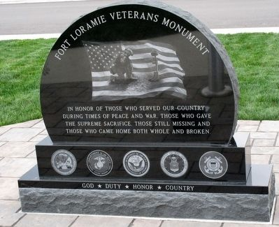 Fort Loramie Veterans Monument Marker image. Click for full size.