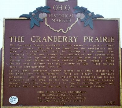 The Cranberry Prairie Marker image. Click for full size.