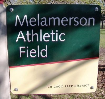 Melamerson Athletic Field Marker (Side A) image. Click for full size.