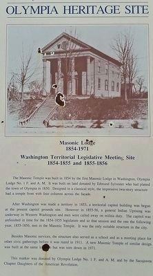 Masonic Lodge 1854-1971, Marker image. Click for full size.