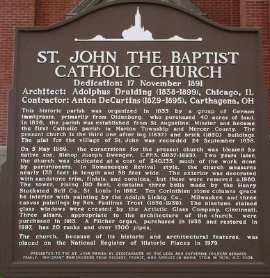 St John the Baptist Catholic Church Marker image. Click for full size.