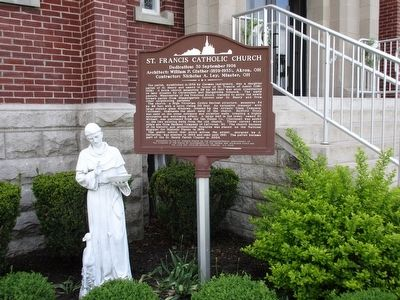 St. Francis Catholic Church Marker image. Click for full size.