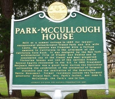 Park-McCullough House Marker image. Click for full size.