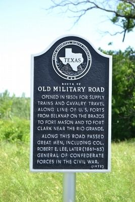 Route of Old Military Road Marker image. Click for full size.