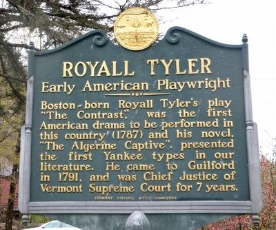 Royall Tyler -- Early American Playwright Marker image. Click for full size.
