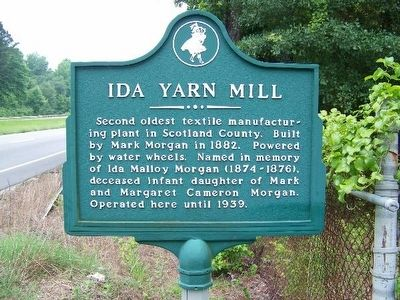 Ida Yarn Mill Marker image. Click for full size.