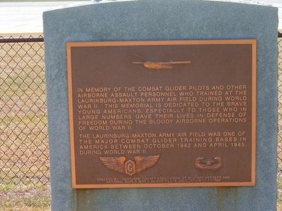 World War II Glider Pilots Marker image. Click for full size.