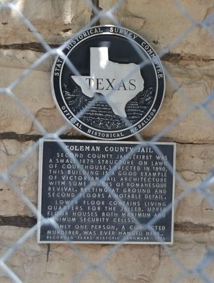 Coleman County Jail Marker image. Click for full size.