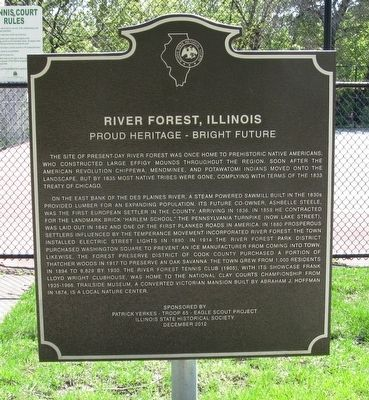 River Forest, Illinois Marker image. Click for full size.