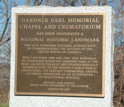 Gardner Earl Memorial Chapel & Crematorium Marker image. Click for full size.