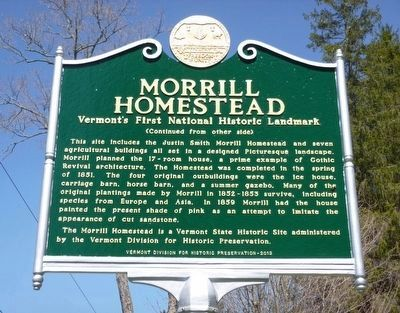 Morrill Homestead Marker image. Click for full size.