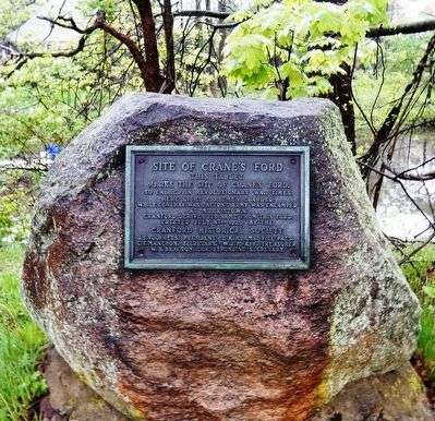 Site of Crane's Ford Marker image. Click for full size.